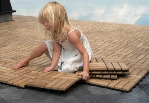 реставрация паркета в детском саду